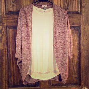 Short Sleeve Batwing Cardigan (Sweater Only)